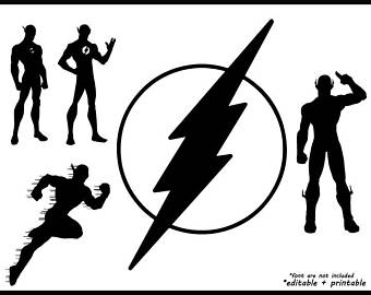 340x270 Flash Superhero Svg Etsy
