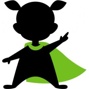 300x300 Superhero Kid Silhouette Design, Silhouettes And Superhero Kids