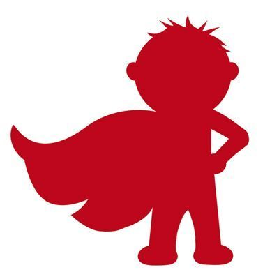 400x400 Superhero Silhouette Of Little Boy With Cape. Links To Knox'S
