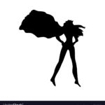 150x150 Female Superhero Silhouette Clipart Clipground Striking Adorable 5