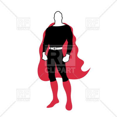 400x400 Super Hero Character Royalty Free Vector Clip Art Image