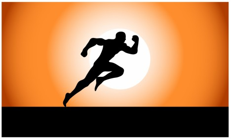 468x282 Running Superhero Silhouette Vectors Stock In Format For Free