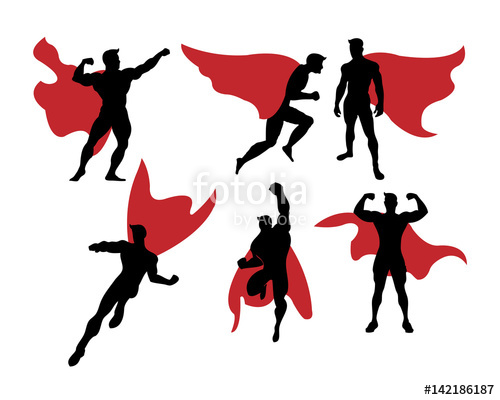 500x400 Male Superhero Silhouette Stock Image And Royalty Free Vector