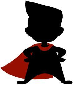 236x276 Silhouette Of A Superhero Vector For School