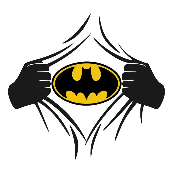 600x600 Super Hero Cuttable Design Cut File. Vector, Clipart, Digital