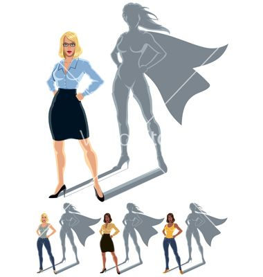 380x400 Woman Superhero Concept Vector Kid Craft Superhero