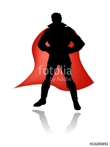 375x500 Super Hero Silhouette Vector Stock Image And Royalty Free Vector