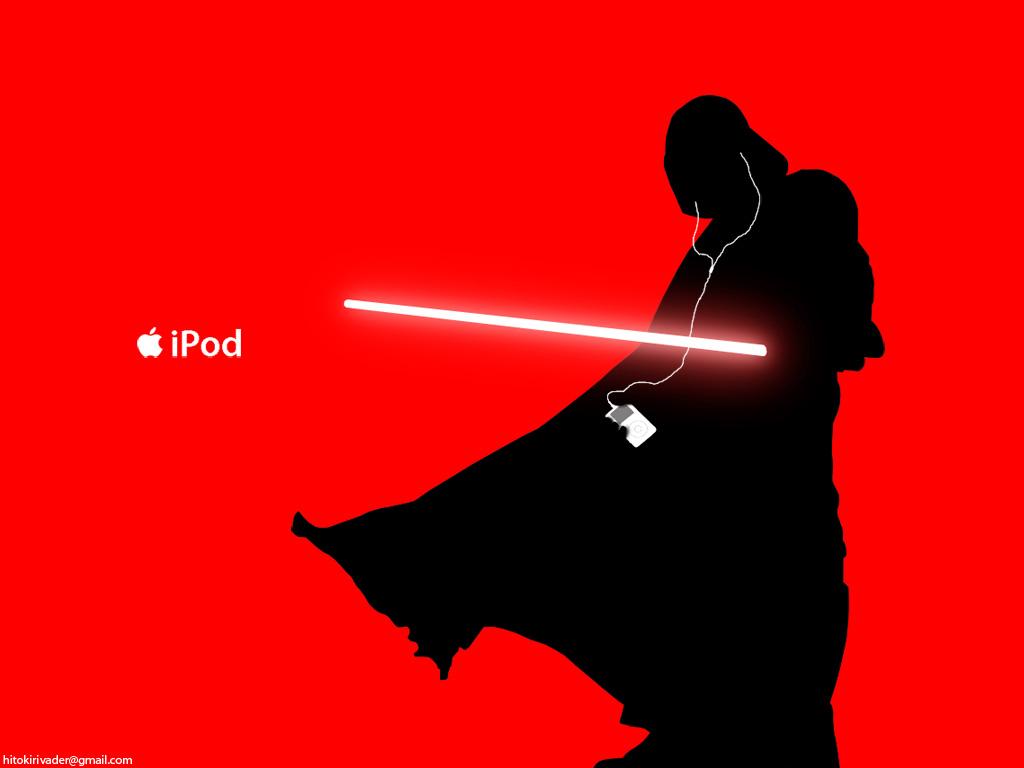 1024x768 Darth Vader Ipod Ad By Hitokirivader