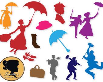340x270 Mary Poppins Silhouette Disney Clipart Png Collection