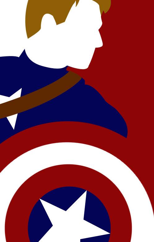 497x777 Captain America Silhouette Captain America Silhouette By Audrey