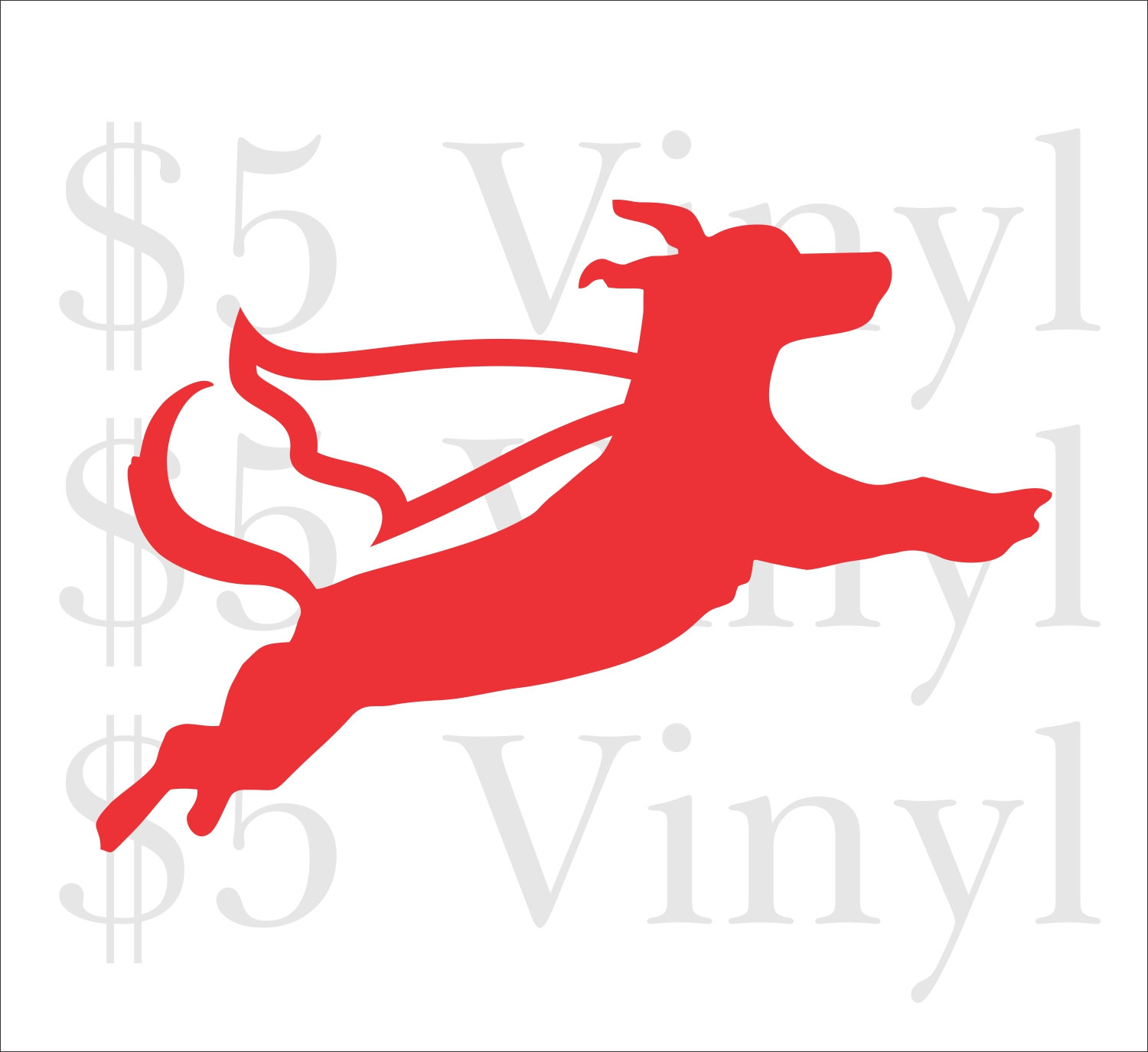 1500x1375 Super Family Dog Flying, Small Vinyl Car Decal, Superman Sticker