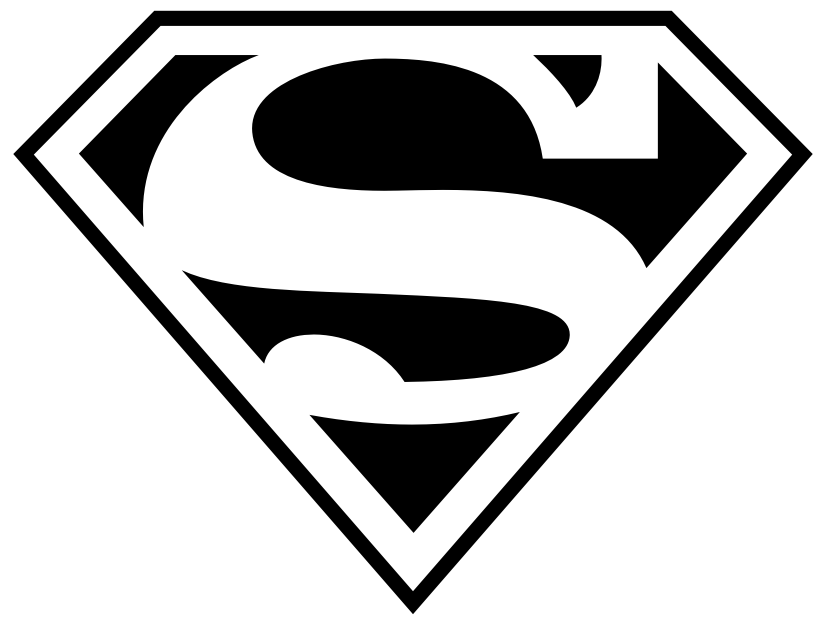 825x626 Superman Stencil Superman Logos, Superman Fan Art Cool