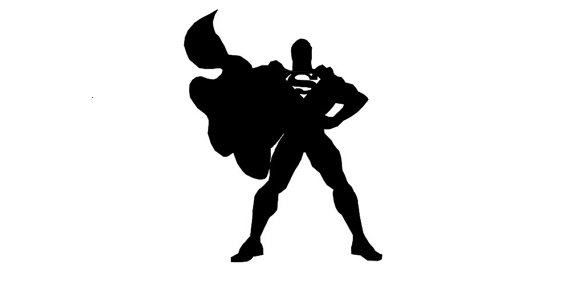 570x285 Superman Silhouette Vinyl Decal Car Decor Sticker Comic Marvel