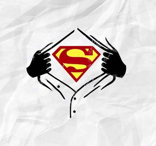 515x483 Superman Svg Superhero Svg File Ripped Svg Tshirt Svg