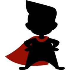 236x236 Super Hero Kid Silhouettes