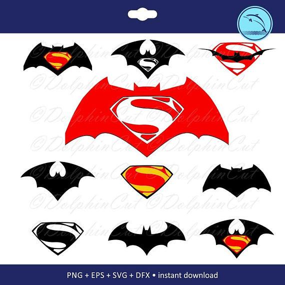 570x570 Batman Vs Superman, Silhouette Cutting, Scrapbooking Image Png