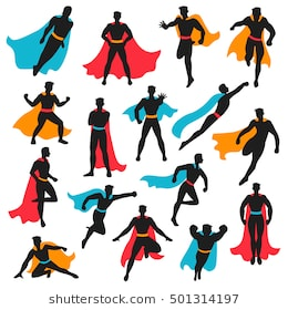 260x280 Royalty Free Superman Silhouette 162035 Vector Clip Art Image
