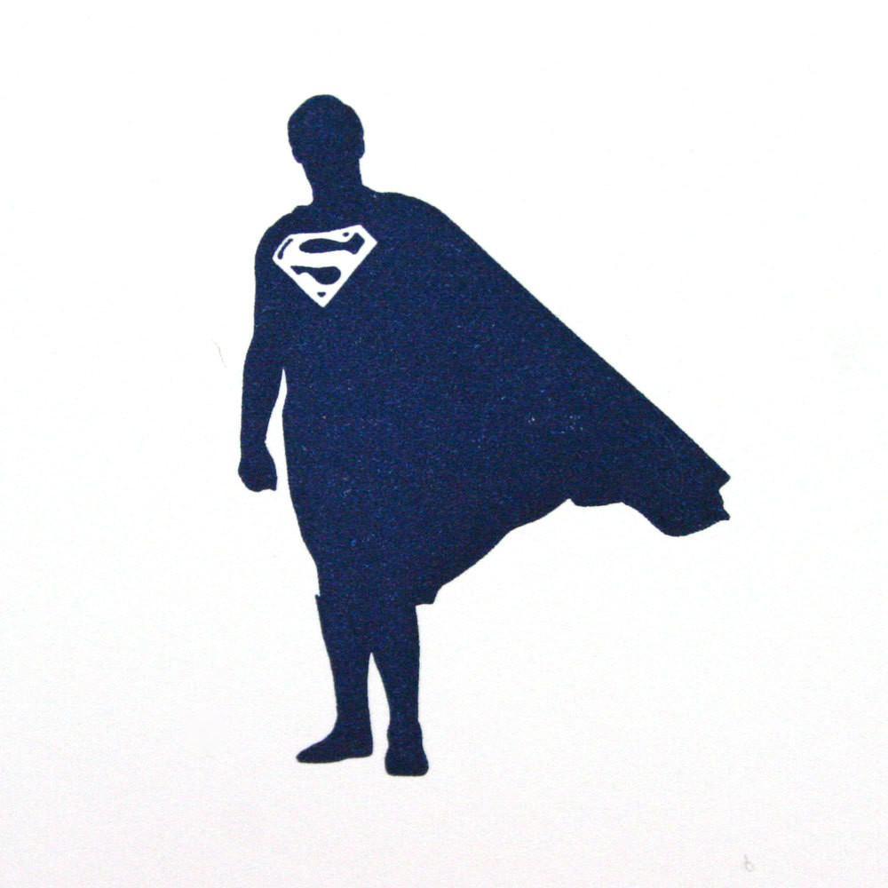 1000x1000 Superman Letterpress Card