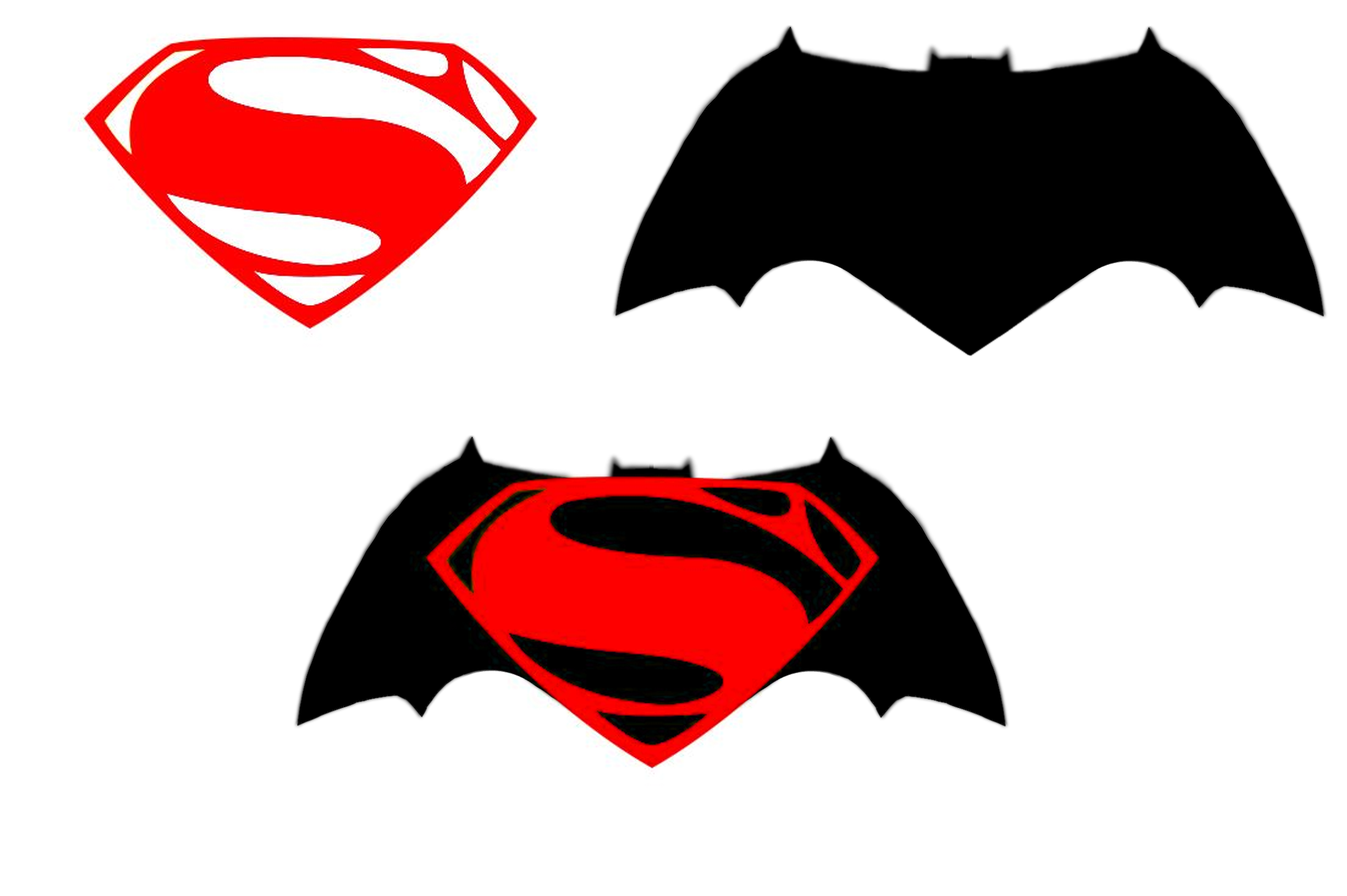 Superman Silhouette Vector