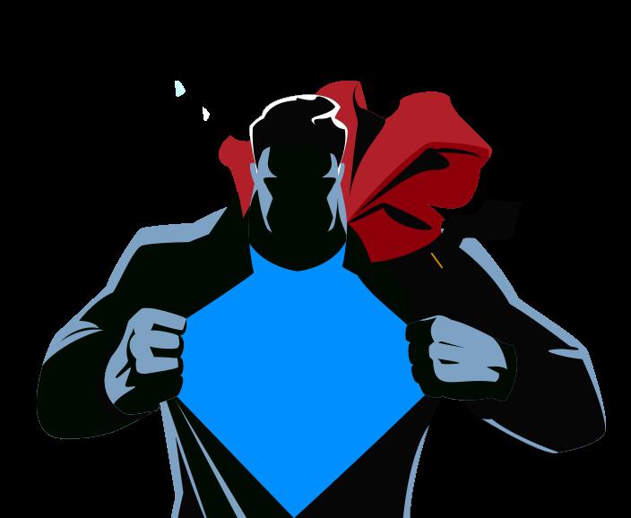 704x578 Superman Silhouette