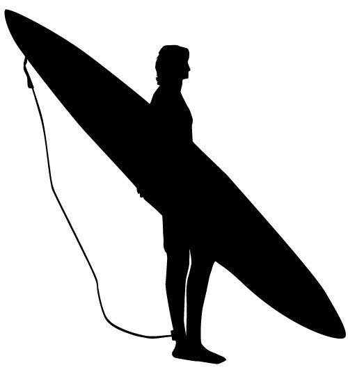 500x535 Surfer Silhouette
