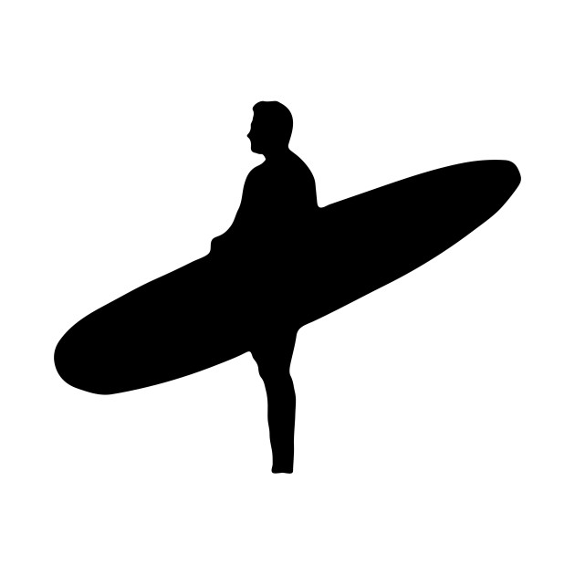 630x630 Limited Edition. Exclusive Man Holding Surfboard Silhouette