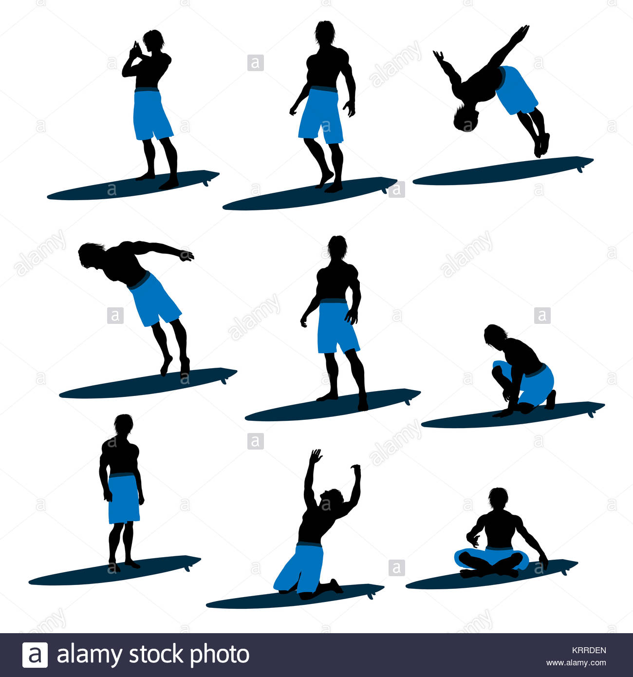 1300x1390 Surfer On A Surfboard Silhouette Illustration On A White