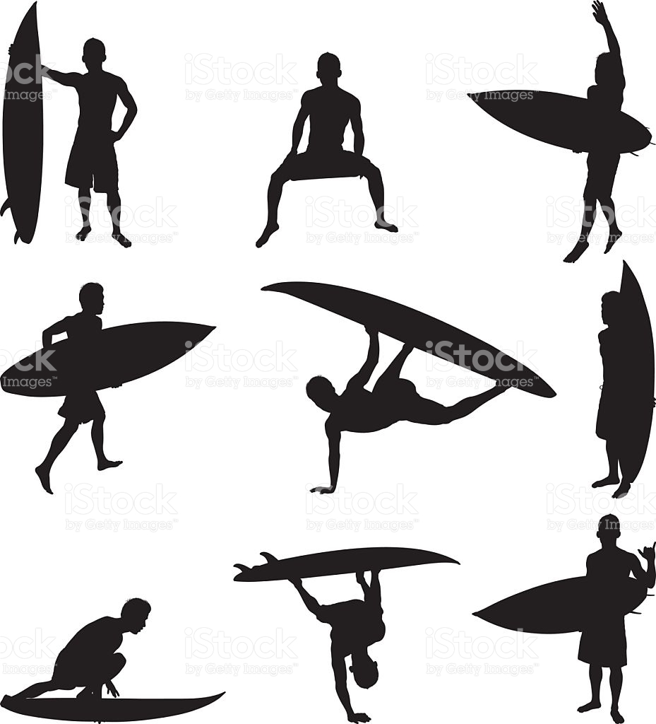 929x1024 Surfers, Vector Art And Royalty