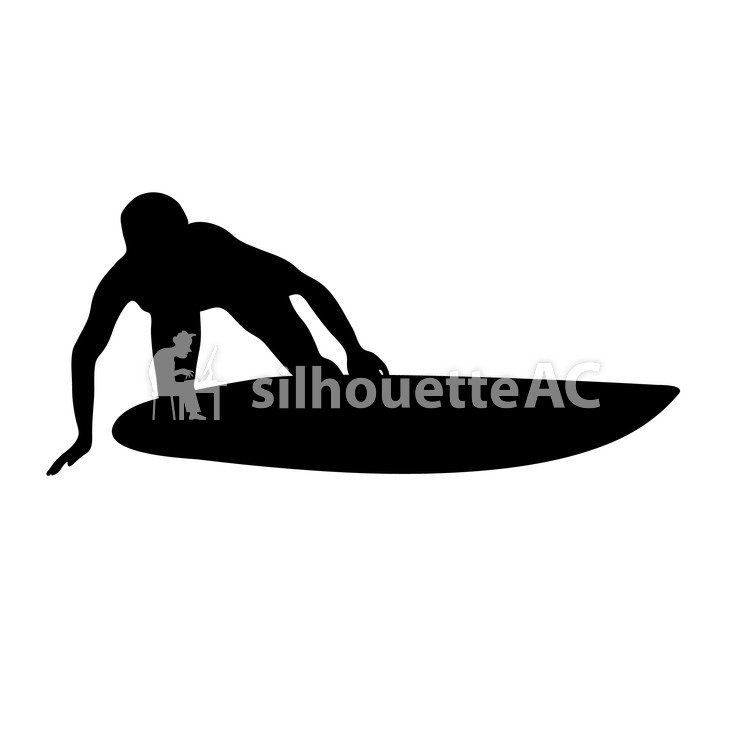 750x750 Free Vector Silhouettes An Illustration, Water Sports, Surfer