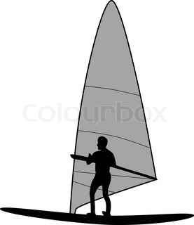 277x320 Silhouette Of Palm And Surfer On Tropical Sunset Stock Vector