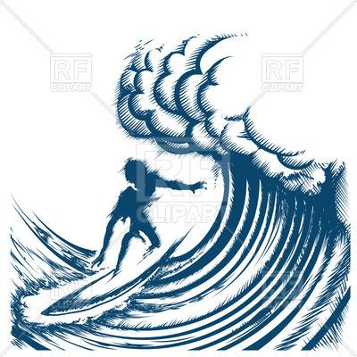 400x400 Surfer Riding A Big Wave