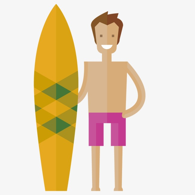 650x650 Vector Characters Beach, The Man, Skateboard, Surf Png And Vector
