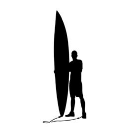 270x270 Surfer Silhouette 02 Stencil Free Stencil Gallery