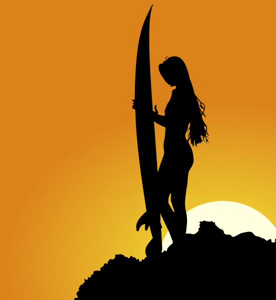 552x600 Surfer Silhouette Png Clip Arts For Web