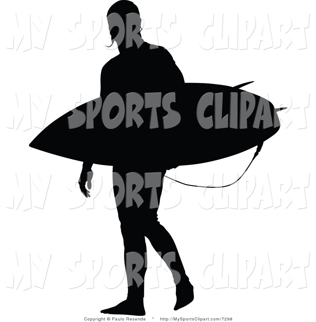 1024x1044 Sports Clip Art Of A Surfer Silhouette By Paulo Resende