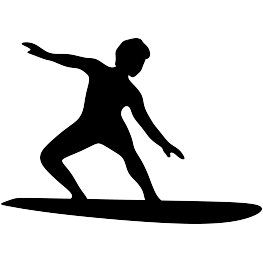 263x262 Surfer Silhouette Free Svg Silhouette Silhouettes