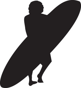 275x300 Vector Surfer Silhouette Royalty Free Stock Image