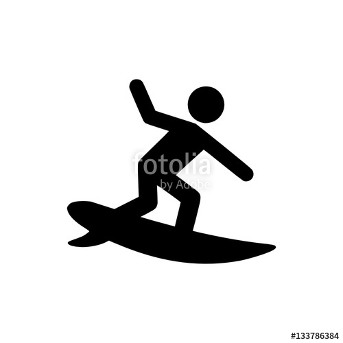 500x500 Surfer Icon Stock Image And Royalty Free Vector Files On Fotolia