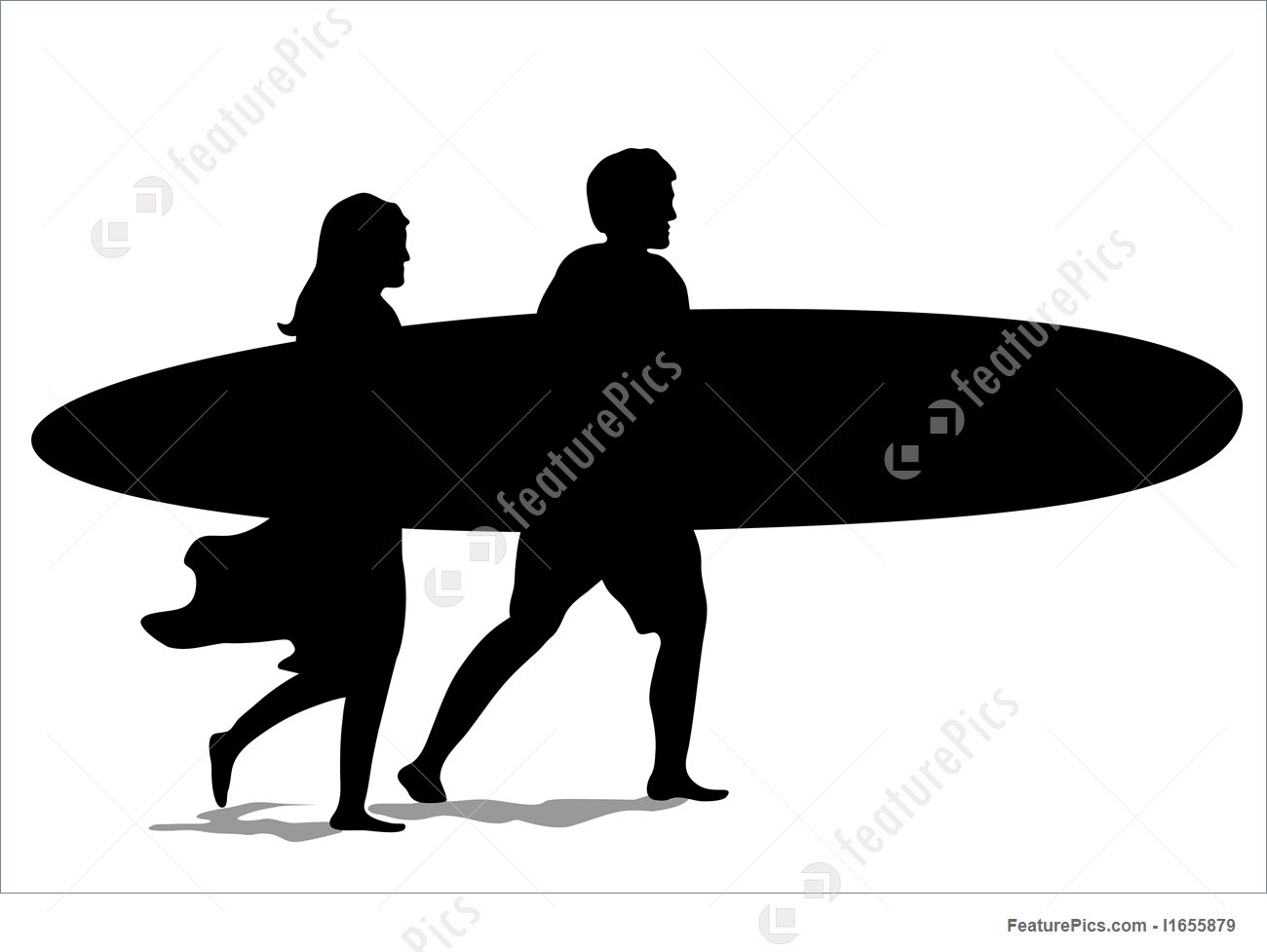 1300x977 Water Sports Surf Couple Silhouette
