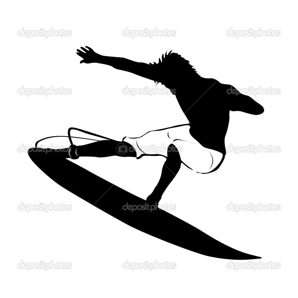 1024x1024 Surfer Silhouette