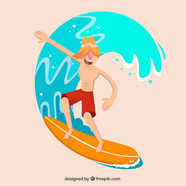 626x626 Modern Surfer With A Wave Vector Free Download