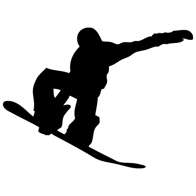 660x660 Snowboarder Vector Graphics Silhouette