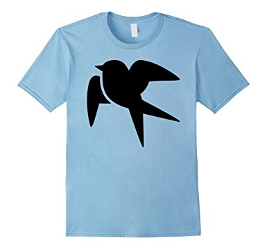 385x360 Swallow Bird Silhouette T Shirt Clothing