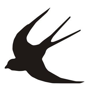 320x324 Swallow Bird Silhouette Decal Sticker