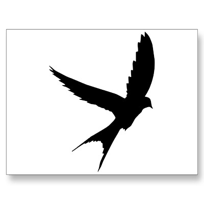 400x400 Swallow Silhouette Postcards Birds And Silhouettes