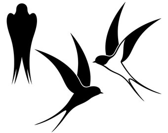 340x270 Swallow Silhouette Etsy