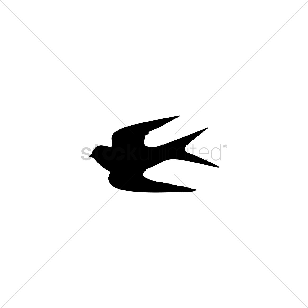 1300x1300 Swallow Silhouette Vector Image