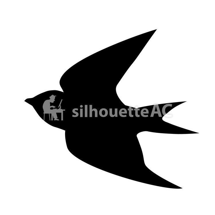 750x750 Free Silhouette Vector Swallow