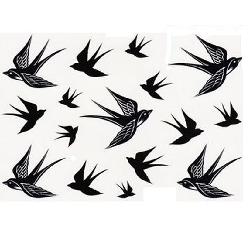800x800 1pcs Swallow Bird Design Temporary Tattoos Body Art Painting