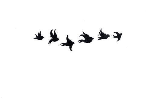 500x367 Cute Image Of Swallow Silhouette Shoulder Tattoo Design